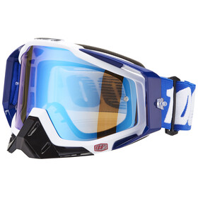 100% Racecraft Anti Fog Mirror Goggles cobalt blue